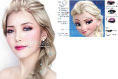 Princess Elsa #Disney Make Up O_o lovely!
