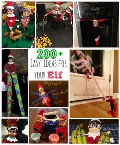 Elf on the shelf idea that are easy and simple, over 200 silly ideas for your Elf is your Eld Naughty or nice