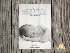 Birth Announcement #birth #announcement #photo #newborn