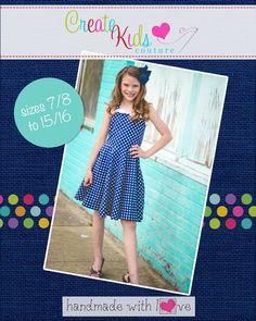 Create Kids Couture - Betty's Tweens Fifties Dress PDF Pattern, $5.60 (http://createkidscouture.com/bettys_tweens.html/)