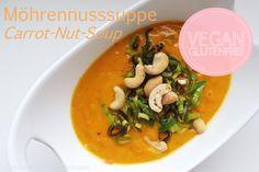 Möhrennusssuppe / Carrot Nuts Soup; vegan, gluten free