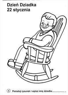 Zdjęcie użytkownika Plastyka i Technika. Sketchbook Drawings, Easy Drawings, Embroidery Patterns, Quilt Patterns, Grandmother's Day, Old Folks, Human Drawing, Grandparents Day, Autumn Art