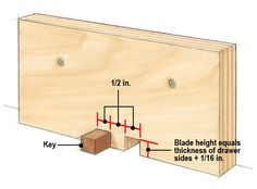 Woodworking Jigs Box Joint Jig Handles Drawer Joinery with Ease Woodworking Table Saw, Woodworking Jigsaw, Router Woodworking, Woodworking Workshop, Woodworking Techniques, Woodworking Crafts, Woodworking Furniture, Box Joint Jig, Box Joints