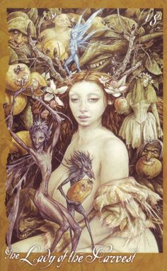 Brian Froud Faerie Oracle | 28, Lady of the Harvest, Faerie Oracle
