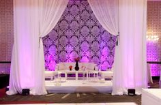 Bridal Bliss Wedding: Raised and tented lounge with modern touches