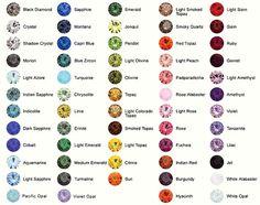 Image result for swarovski rivoli color chart