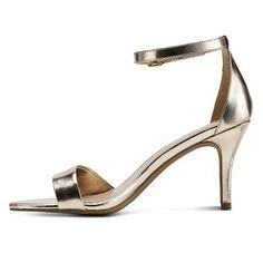 Women's Raz Metallic City Heeled Sandals Tevolio - Light Gold 5.5