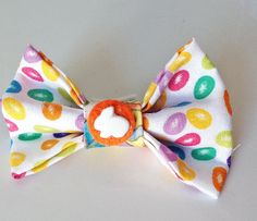Easter Jelly Bean Bow Tie for Male Dogs and by KVSPetAccessories