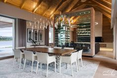 Wine coolers used as dividers to visually separate family room from game room or kitchen from dining?