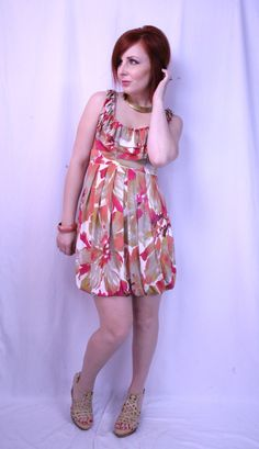 tropical print dress $5 from Goodwill see more at thriftandshout.blogspot.com