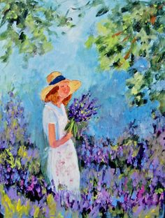 My Lady in Lavender painting from @Erin Houghton - love it!