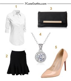 Black and white office Rachel Zane outfit - character of Suits TV show. Outfits for work