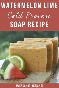 In this cold process soap recipe we will add some watermelon juice and essential oils to create a summery natural artisan homemeade soap. This soap making technique is pretty straight forward and easy enough to DIY if you've made cp soap before. Melt And Pour, Soap Making Supplies, Homemade Soap Recipes, Cold Process Soap, Soap Molds, Home Made Soap, Handmade Soaps, Diy Soaps, Us Foods
