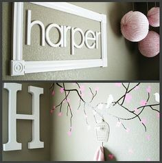 I love that they have the name in a picture frame. So doing this too!