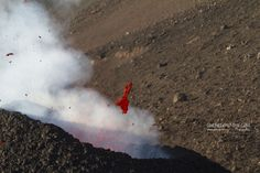 lava close up - lava detail Etna eruption 2014