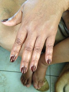 Did my moms nails once. Not my best