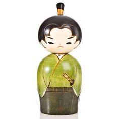 Young Samurai Japanese Warrior Kokeshi Doll