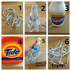 Easiest way to wash white shoelaces                                                                                                                                                                                  More