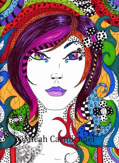 Elemental Neon Soul Girl 8x10 Art Print by MystikSoulArt on Etsy, $10.00