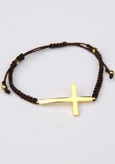 yt clothing. cross bracelet 18$