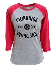 f6e2ce91 Look at this Sharp Wit Athletic Heather & Hot Pink 'Coffee & Eyeliner'  Raglan Tee on today!