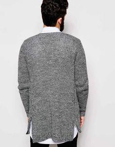 Image 2 ofASOS Open Front Cardigan with Side Zips