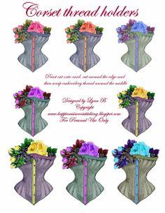 Le bonheur est Cross Stitching: Freebie vendredi - corset étiquettes de cadeau et les détenteurs de fil.
