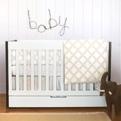 #White paneling gives this #nursery a rustic feel.