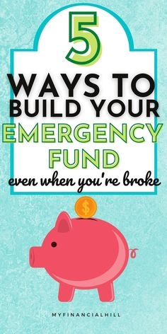 We never know what tomorrow brings. That's why having an emergency fund is so important. There's super simple ways to build your emergency fund fast. Check out these 5 easy ways to get your savings plan started. You'll also find out how much to save for your emergency fund. Some people save up 3-6 months worth of emergencies but you can get started with your first month. Saving up money can be super easy if you just know how. Emergency Fund Savings Plan | How to Build an Emergency Fund…