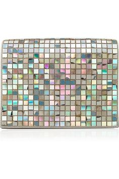 Maison Martin Margiela | Embellished iridescent patent-leather clutch | NET-A-PORTER.COM