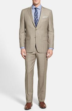 Hart Schaffner Marx 'New York' Classic Fit Plaid Wool Suit available at #Nordstrom