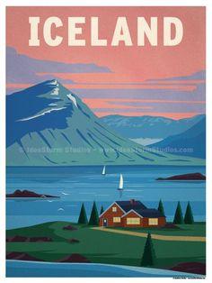 Iceland Poster by IdeaStorm Studios ©2016. Available exclusively at ideastorm.bigcartel.com Clique aqui http://mundodeviagens.com/promocoes-de-viagens/ para aproveitar agora Viagens em Promoção!
