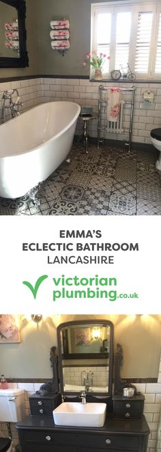 Take a look around Emma's stunning eclectic bathroom design and see how she has achieved this unique bathroom look.