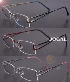Womens Luxury -Titanium Rimless Glasses Eyewear Eyeglasses Frame Super Light 7488b50cf999