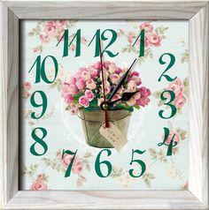 Nástěnné hodiny s růží Home Decor, Decoration Home, Room Decor, Home Interior Design, Home Decoration, Interior Design