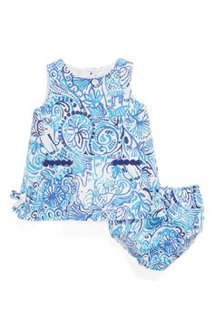 Lilly Pulitzer® 'Baby Lilly' Cotton Shift Dress (Baby Girls)
