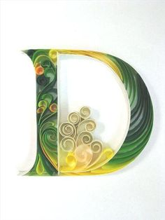 Beautiful Paper Quilling Letter Patterns By Sabeena Karnik #theorganizedshower