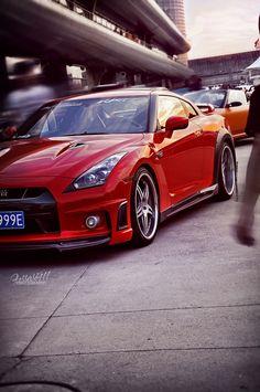Red Nissan GTR