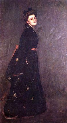 William Merritt Chase ~ The Black Kimono