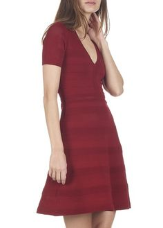 Robe en maille stretch  Rouge by SANDRO