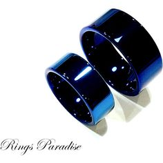 Blue Tungsten Ring, Couples Wedding Ring, Wedding Band Sets, Mens... ($74) ❤ liked on Polyvore featuring men's fashion, men's jewelry, men's rings, mens blue wedding rings, mens band rings, mens watches jewelry, mens diamond band wedding ring and mens blue diamond ring