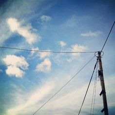 Beautiful sky above electric pole~