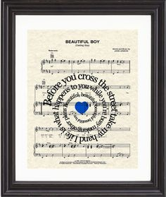 Hey, I found this really awesome Etsy listing at https://www.etsy.com/listing/96927581/beautiful-boy-song-lyrics-sheet-music