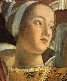 Andrea Mantegna - Mantua, Palazzo Ducale - Camera degli Sposi - portrait in fresco of Barbara Gonzaga (1455-1503)