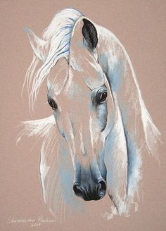 33 Horse Drawing Ideas With Crayon - Art Horse Drawings, Animal Drawings, Art Drawings, Horse Head Drawing, Painting Illustrations, Drawing Animals, Drawing Art, Horse Artwork, Pastel Art