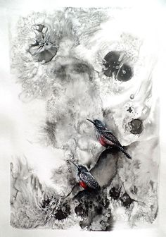 Buy bird paintings online from StateoftheART, Woodpecker by Liffey Joy, mixed media on paper size 42 x 59 cm unframed. Buy Birds, Online Painting, Figurative Art, Online Art Gallery, Paper Art, My Arts, African, Joy, Abstract