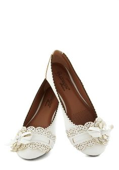 A Tribute to Archi-texture Flat in White, #ModCloth