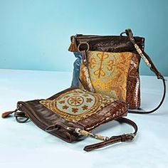 Bohemian chic purse handcrafted by a former air force pilot ad instructor. no two alike.