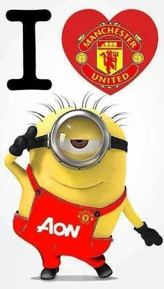 Manchester United Minion I love football Manchester United Gifts, I Love Manchester, Manchester United Wallpaper, Manchester United Football, Minions Fans, Best Football Team, Soccer Quotes, Sexy Girl, Man United