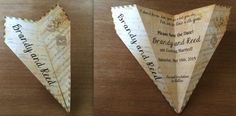 """Vintage Couple's Song Sheet Music Paper Airplane Invitation """"LONESTAR"""" - Choose Song, Verbiage & More! Great for Save the Date, Wedding, Etc"""